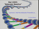 Preview image for video: BIOL10221 - 28/9/2011
