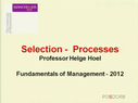 Preview image for video: Selection Processes-9.11.12