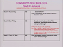 Preview image for video: Biol20882 - 5 May 2011