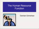 Preview image for video: Human Resource Function