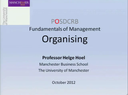 Preview image for video: Management-Organising