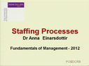 Preview image for video: Staffing Processes