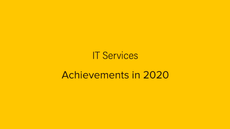 Dummy video preview image for video: IT Services - Achievements in 2020