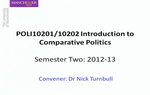 Preview image for video: POLI10202  31 January 2013